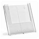 Porta depliant da parete in plexiglass con tasca porta documenti f.to A4 verticale