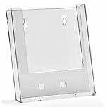 Porta depliant da parete in plexiglass con tasca porta documenti f.to A5 verticale