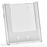 Porta depliant da parete in plexiglass con 2 tasche porta documenti f.to A5 verticale