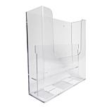 Porta depliant da parete in plexiglass con 2 tasche porta documenti f.to A4 verticale