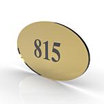 targa per porta ovale oro