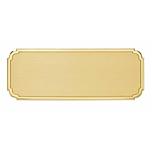 Targa da porta personalizzata sagomata in ottone con bordo lucido