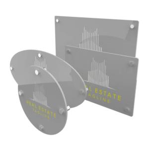 Targa in plexiglass argento personalizzato