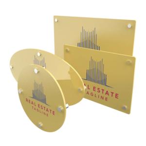 Targa in plexiglass oro personalizzata