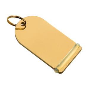 Portachiavi personalizzato in ottone lucido per hotel