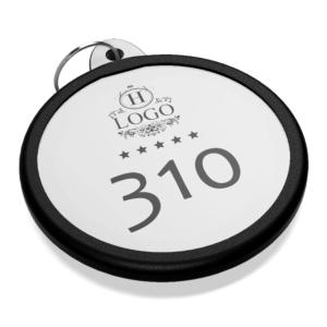 Portachiavi in plexiglass personalizzato argento cerchio