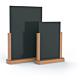 Porta menù da tavolo in legno di faggio finitura teak A4 - 21x30 cm