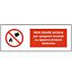 """Cartello in alluminio mm 333x125 """"Non usare acqua per spegn. Incendi su app. elettriche"""""""