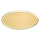 Targa personalizzata in ottone ovale