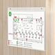 Porta avvisi in plexiglass da parete con fori per affissione A5
