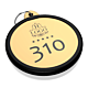Portachiavi in plexiglass personalizzato oro cerchio