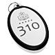Portachiavi per hotel personalizzato in plexiglass argento  ovale